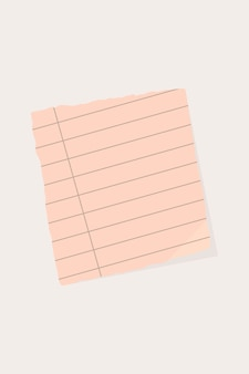 Fondo de papel rasgado nota