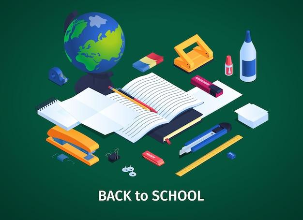 Fondo de papelería escolar