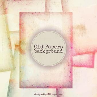 Fondo de papeles viejos de acuarela