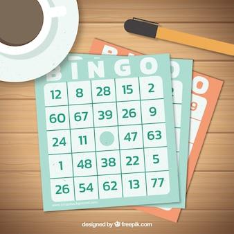 Fondo de papeletas de bingo