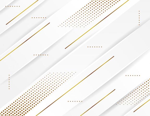 Fondo de papercut de lujo, decoración abstracta, patrón de puntos de oro, diseño de trama de semitonos.