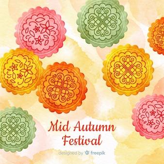 Fondo para el festival de medio otoño