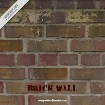 Fondo de pared de ladrillos dañados