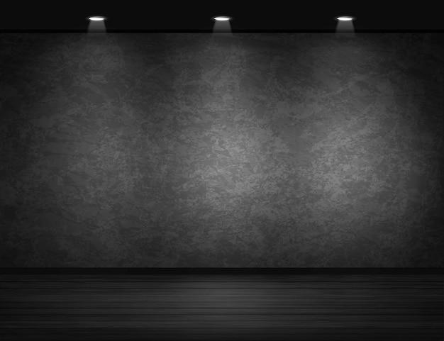 Fondo de pared negra