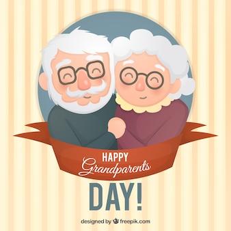 Fondo de pareja adorable de abuelitos