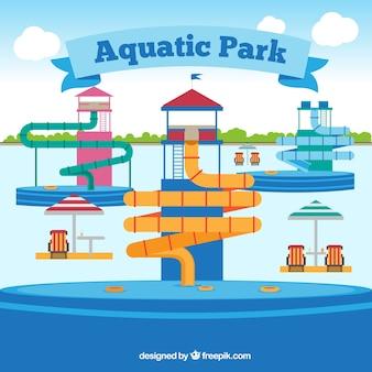 Fondo de parque acuático