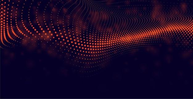 Fondo de partículas abstractas en color rojo