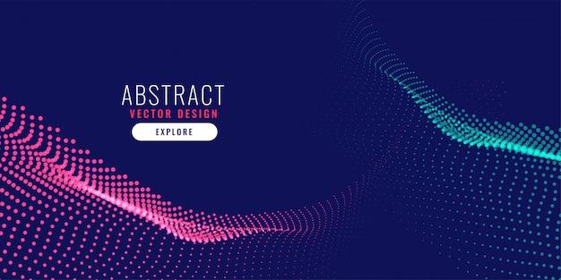 Fondo de partículas abstracto digital