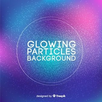 Fondo con partículas brillante