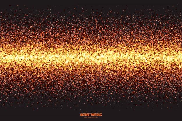 Fondo de partículas brillantes de brillo dorado