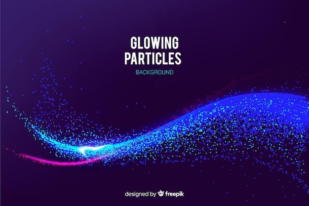 Fondo de partículas brillantes