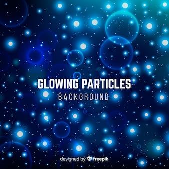 Fondo con partículas brillantes
