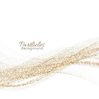 Fondo de partículas de brillo dorado que fluye