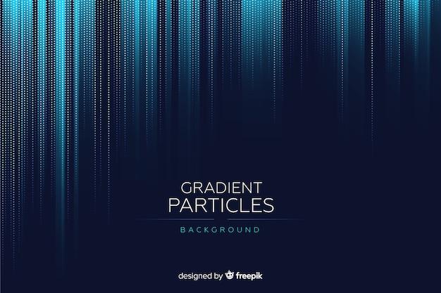 Fondo de partículas con degradado