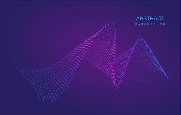 Fondo de partículas de flujo de líquido abstracto dinámico