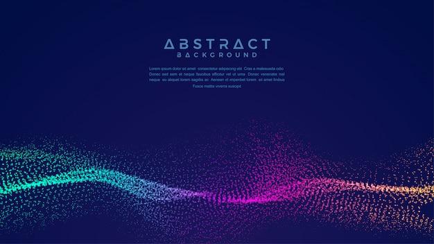 Fondo de partículas de flujo de líquido abstracto dinámico.