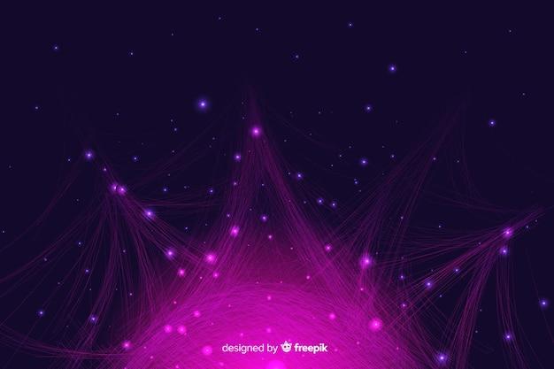Fondo de partículas de infografía degradado
