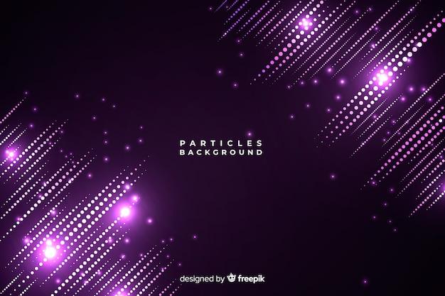 Fondo partículas luminosas