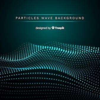 Fondo de partículas onduladas de sonido
