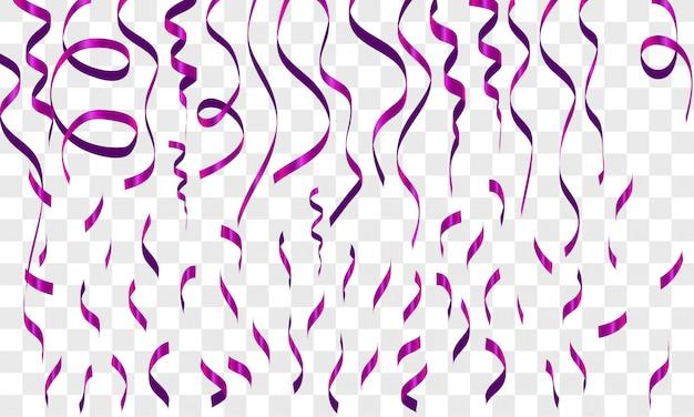 Fondo de partículas de saludo de brillo transparente, aniversario de evento de vector