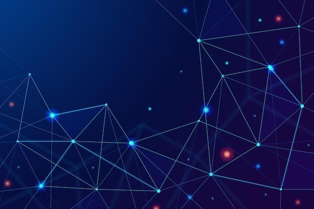 Fondo de partículas de tecnología abstracta realista