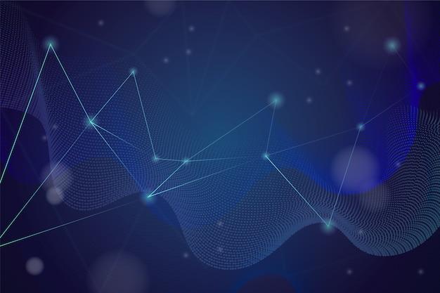 Fondo de partículas de tecnología abstracta