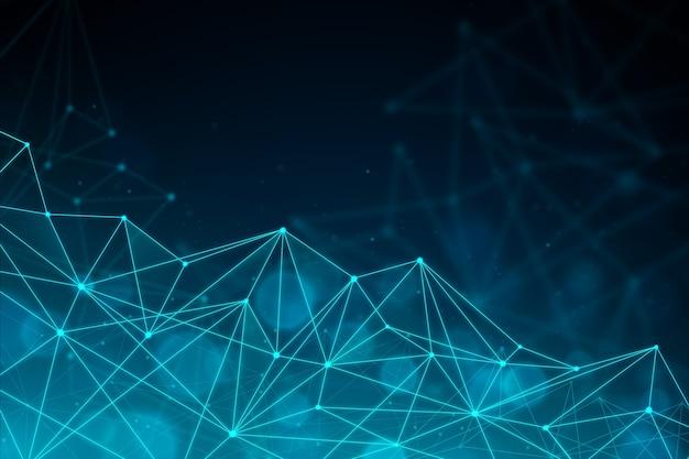 Fondo de partículas de tecnología realista abstracta
