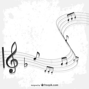 Fondo con partitura de música