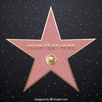 Fondo de paseo de la estrella de la fama