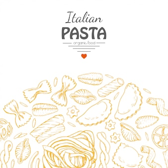 Fondo con pasta italiana
