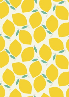 Fondo pastel sin fisuras patrón de limón