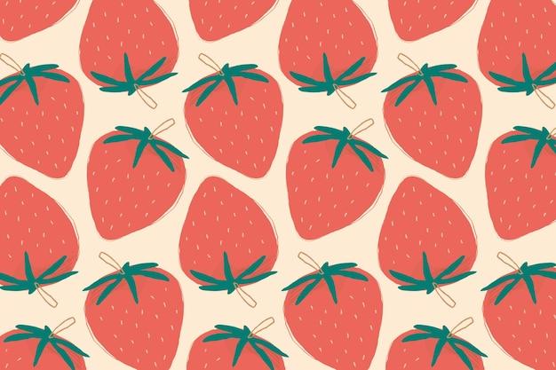 Fondo pastel de patrones sin fisuras de fresa