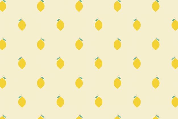 Fondo pastel de vector transparente limón patrón