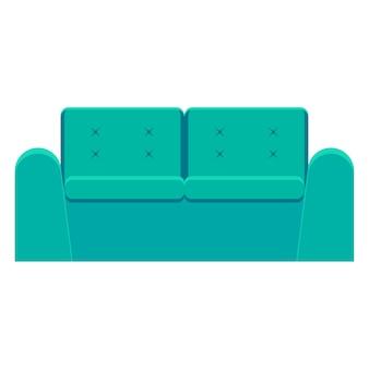 Fondo de patern de sofá de dibujos animados brillante para el diseño de carteles de guardería de bebés.