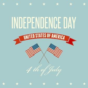 Fondo patriótico del día de la independencia americana