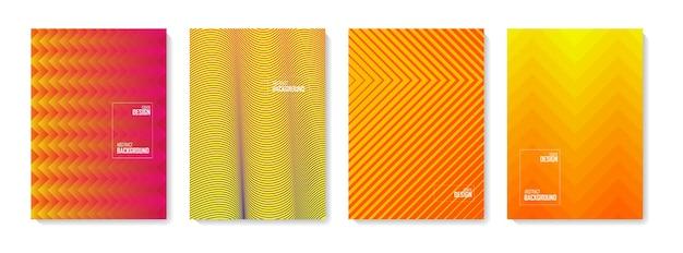 Fondo de patrón abstracto. conjunto de formas abstractas de color, fondo de diseño abstracto. elementos degradados abstractos para logo, banner, post