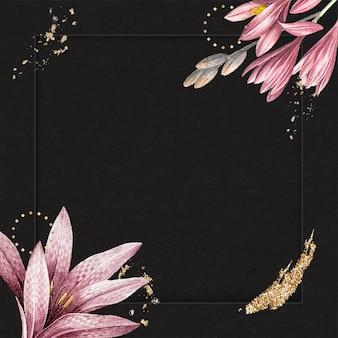Fondo de patrón de amarilis rosa