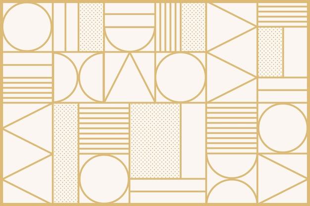 Fondo de patrón art deco en oro