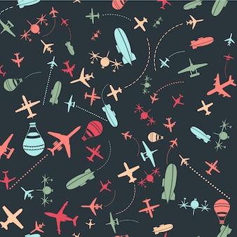 Fondo con patrón de aviones