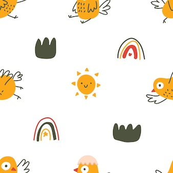 Fondo patrón bebé textura niños animal pájaro chirrido pato patito tweet naturaleza wallp