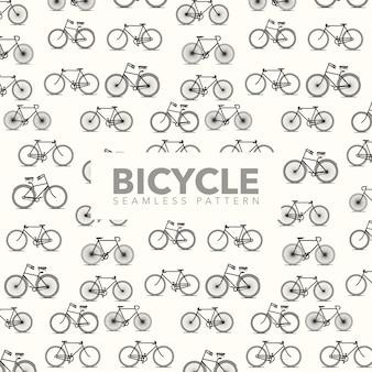 Fondo con patrón de bicicletas