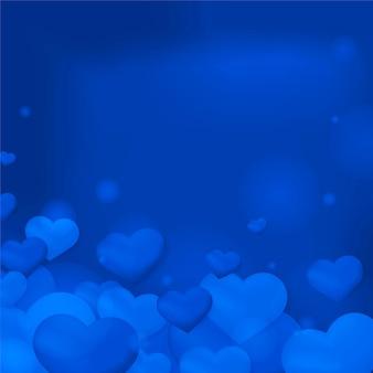 Fondo de patrón de burbuja de corazón