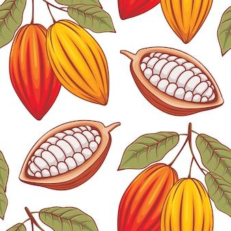 Fondo de patrón de cacao