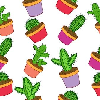 Fondo con patrón de cactus