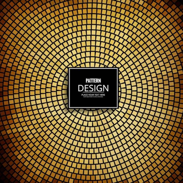 Fondo con patrón circular dorado