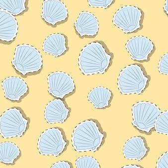 Fondo con patrón de conchas