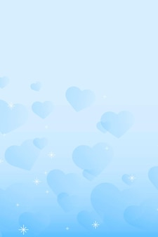 Fondo de patrón de corazón abstracto brillo azul