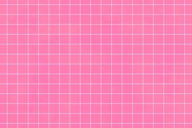 Fondo de patrón de cuadrícula estética rosa fuerte