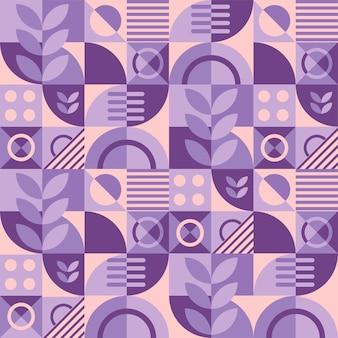 Fondo de patrón de cuadrícula geométrica abstracta en color morado y melocotón.