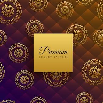 Fondo de patrón de decoración de mandala de lujo hermosa